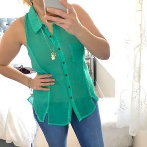 We the Free Seafoam Green Sleeveless Top XS